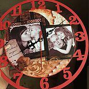 Для дома и интерьера ручной работы. Ярмарка Мастеров - ручная работа Часы декупаж с фото. Handmade.