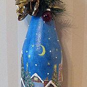 Подарки к праздникам ручной работы. Ярмарка Мастеров - ручная работа декор праздничных бутылок. Handmade.