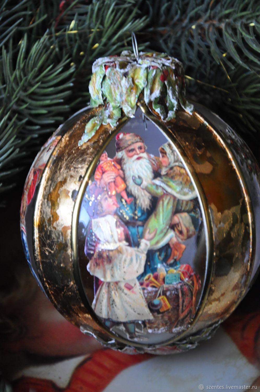 Christmas ball,Victorian Santas, Ded Moroz and Snegurochka, Budapest,  Фото №1