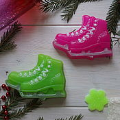 Косметика ручной работы handmade. Livemaster - original item Soap Skates - all to the rink. Handmade.