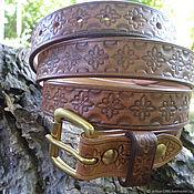 Straps handmade. Livemaster - original item Women`s leather belt.. Handmade.