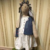 Куклы и игрушки ручной работы. Ярмарка Мастеров - ручная работа Зайка Капа в стиле бохо.. Handmade.