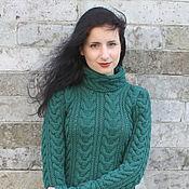 Одежда handmade. Livemaster - original item Emerald Pullover-Tunic. Handmade.