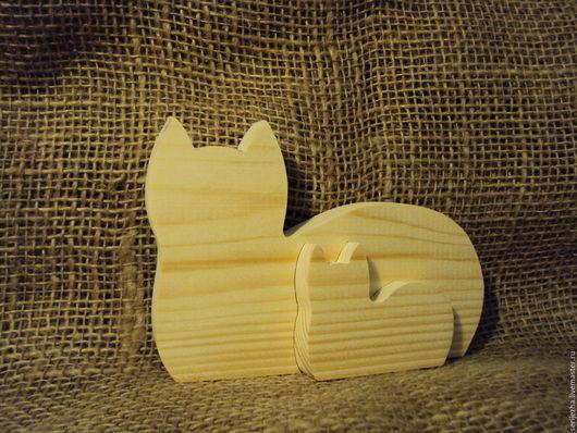 Пазл кошка с котёнком , деревянная игрушка ручной работы