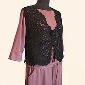 Одежда handmade. Livemaster - original item Crocheted vest black rose.. Handmade.