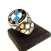 Украшения ручной работы. Ярмарка Мастеров - ручная работа кольцо серебряное 925 пробы мужское женское   перстень BMW. Handmade.