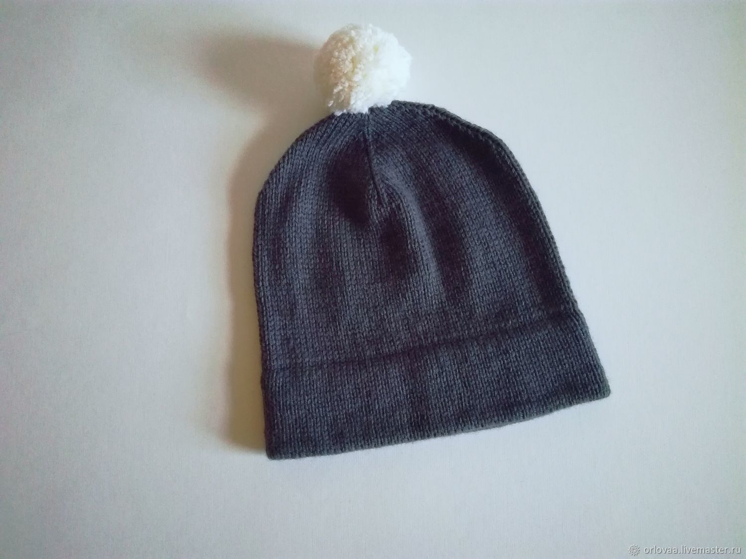 Knitted long hat 'dark grey', Caps, Moscow,  Фото №1