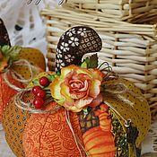 Куклы и игрушки ручной работы. Ярмарка Мастеров - ручная работа Тыква декоративная (осенний карнавал). Handmade.