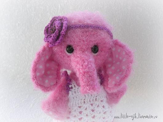 Игрушки животные, ручной работы. Ярмарка Мастеров - ручная работа. Купить слоняшка Эля. Handmade. Розовый, авторская игрушка, цветок
