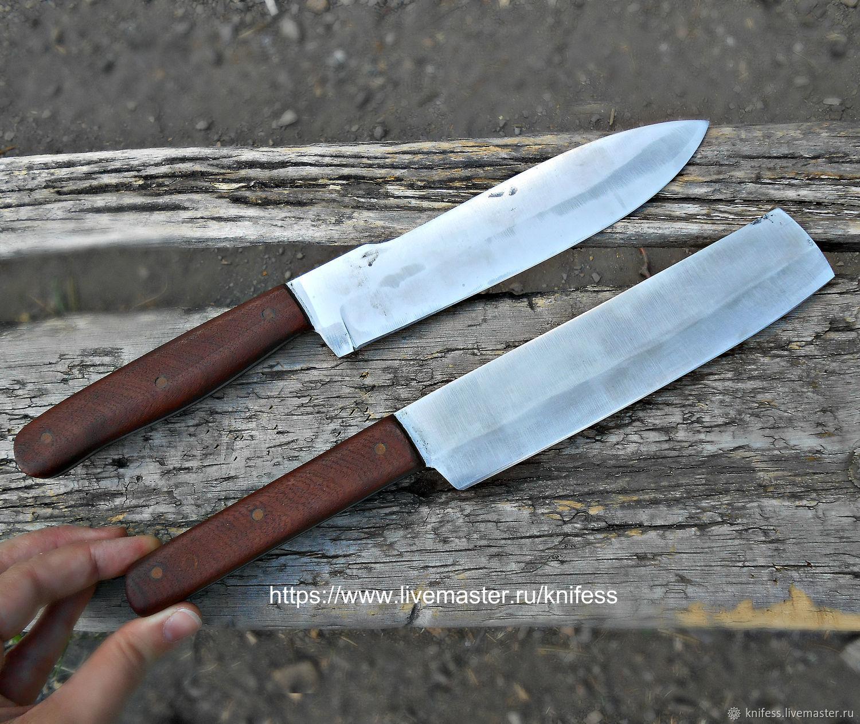 Пара кухонных ножей из стали Х12 набор ножей для кухни, Кухонные ножи, Новошахтинск,  Фото №1