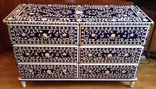 Мебель ручной работы. Ярмарка Мастеров - ручная работа. Купить Комод в восточном стиле. Handmade. Роспись, роспись мебели