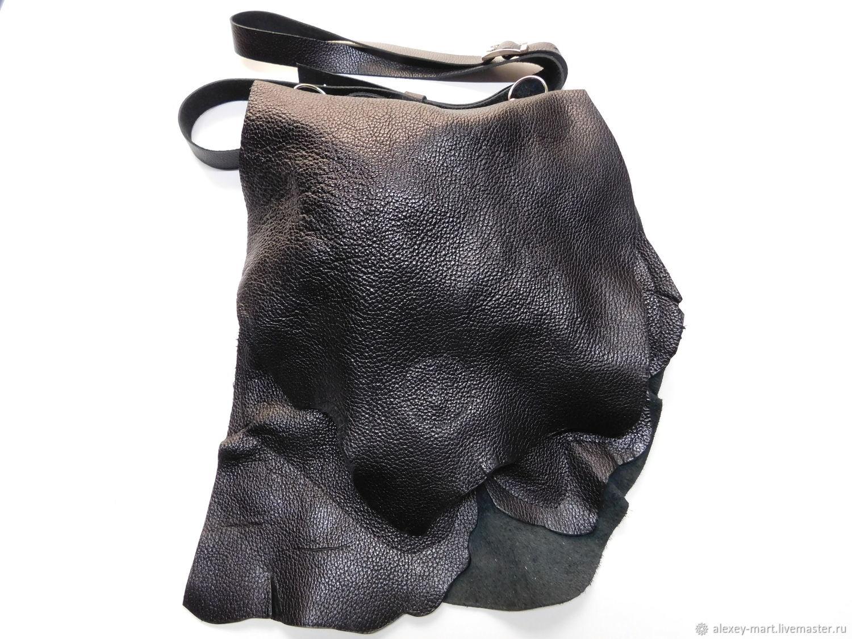 Плоская кожаная сумочка-4, Сумки, Пятигорск, Фото №1