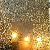 handmade. Livemaster - original item Antique ornamental wall mirror (gold leaf) in the art Deco style. Handmade.