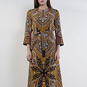 Одежда handmade. Livemaster - original item Floor-length dress from handkerchief dress casual in the Russian style. Handmade.