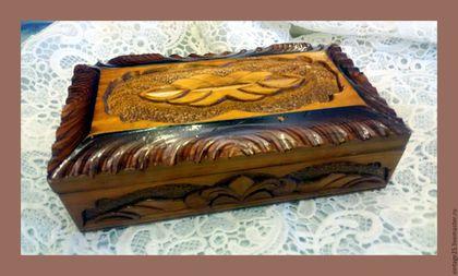 """Винтажные предметы интерьера. Шкатулка 54 год. Разные сорта дерева. Винтажный салон """"Консуэлло"""". Ярмарка Мастеров. Старинная шкатулка"""