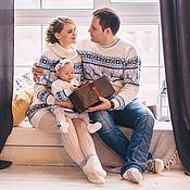 Одежда handmade. Livemaster - original item Sweater dress with reindeer Norwegian knit kit. Handmade.