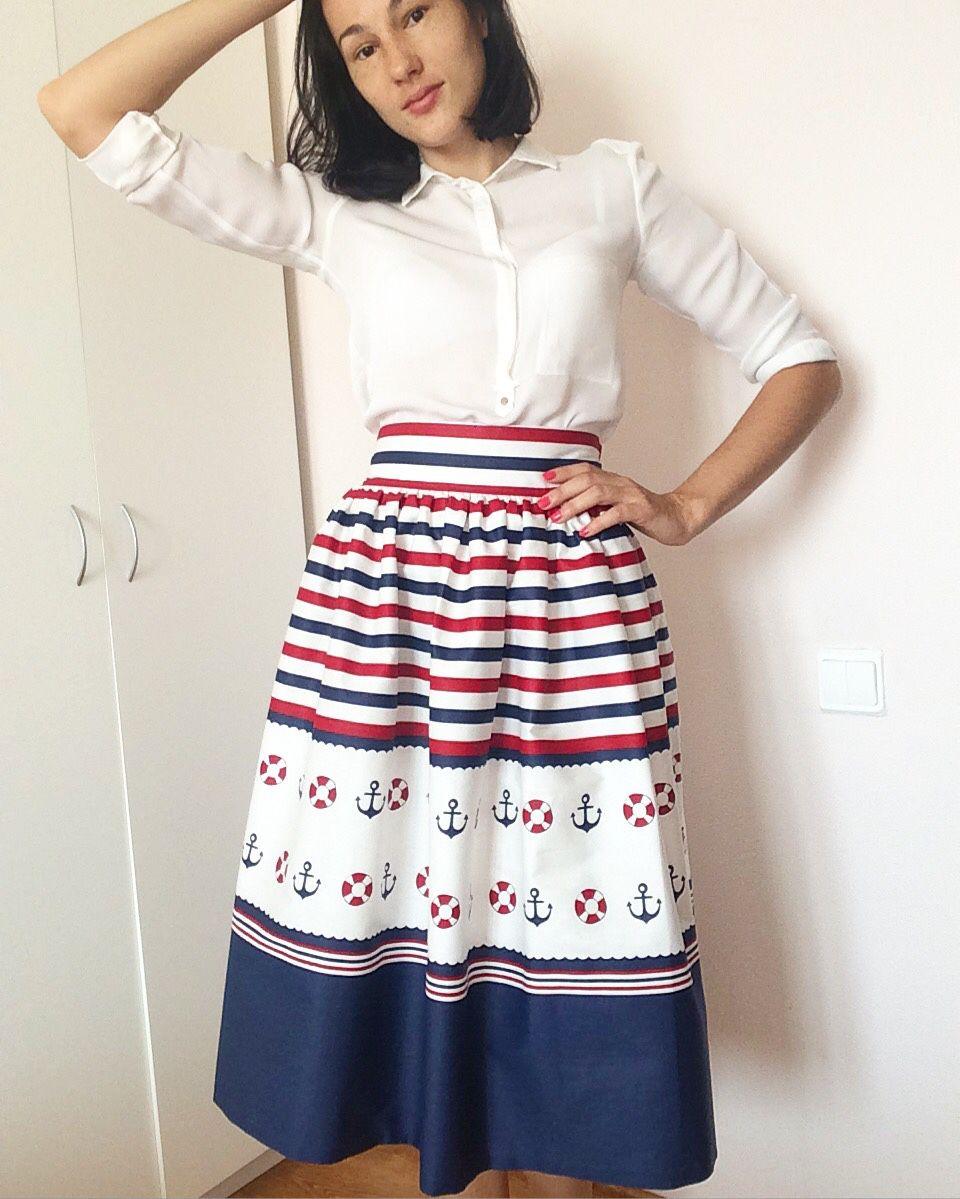 Летняя юбка миди купить