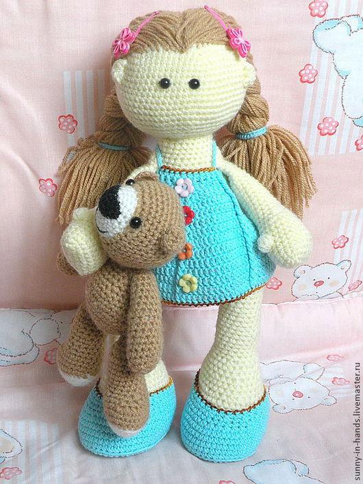 Человечки ручной работы. Ярмарка Мастеров - ручная работа. Купить Вязаная кукла. Handmade. Голубой, подарок, подарок для девочки