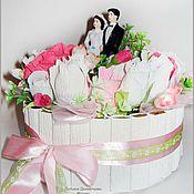 Подарки к праздникам ручной работы. Ярмарка Мастеров - ручная работа Свадебный торт. Handmade.