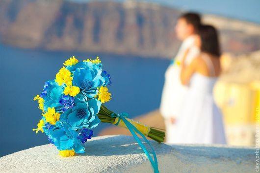 Свадебные цветы ручной работы. Ярмарка Мастеров - ручная работа. Купить Букет невесты. Handmade. Букет, свадебный букет из глины