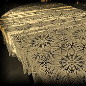 Для дома и интерьера handmade. Livemaster - original item Knitted tablecloth