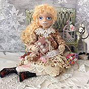 Куклы и игрушки ручной работы. Ярмарка Мастеров - ручная работа Милочка, текстильная интерьерная куколка.. Handmade.