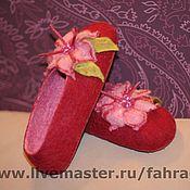 Обувь ручной работы. Ярмарка Мастеров - ручная работа Тапочки для Насти. Handmade.