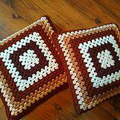 Элементы интерьера ручной работы. Ярмарка Мастеров - ручная работа Чехол на диванную подушку вязаный. Handmade.