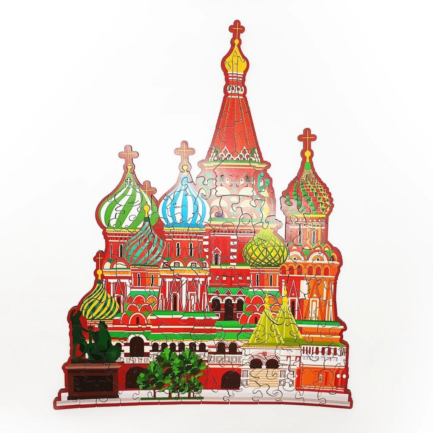 Wooden puzzle ST. BASIL'S CATHEDRAL 30h24 cm, Puzzle, Moscow,  Фото №1