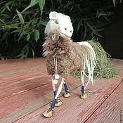 Куклы и игрушки ручной работы. Ярмарка Мастеров - ручная работа лошадь Снежка. Handmade.