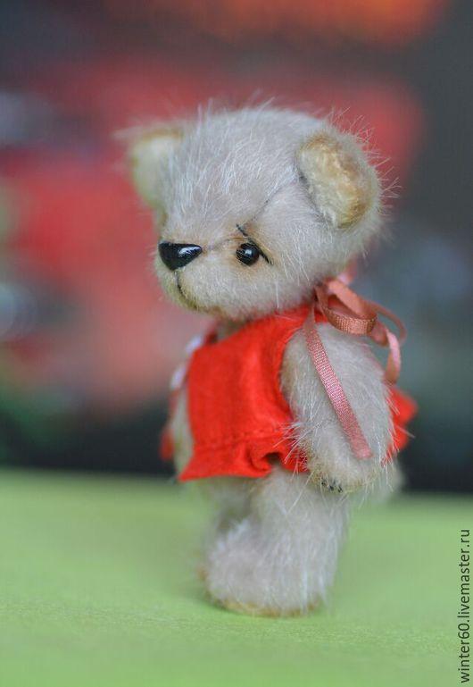 Мишки Тедди ручной работы. Ярмарка Мастеров - ручная работа. Купить Мишутка. Handmade. Серый, маленький, пластика