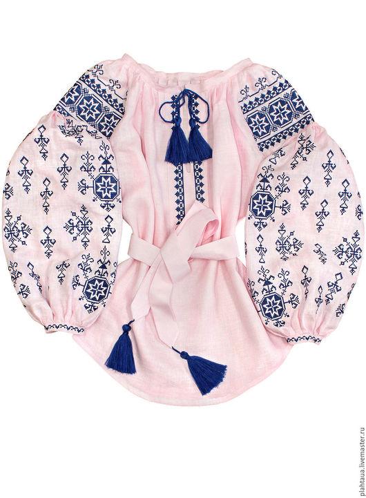 """Блузки ручной работы. Ярмарка Мастеров - ручная работа. Купить Женская вышиванка """"Нега"""". Handmade. Бледно-розовый, вышивка"""