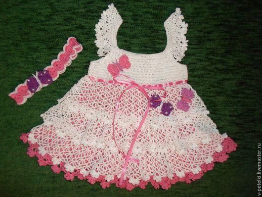"""Одежда для девочек, ручной работы. Ярмарка Мастеров - ручная работа. Купить Летний сарафан из хлопка """"Нежный"""". Handmade. Сарафан, платье"""