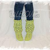 Ankle boot handmade. Livemaster - original item Copy of Copy of Summer Boots (Pineapple). Handmade.