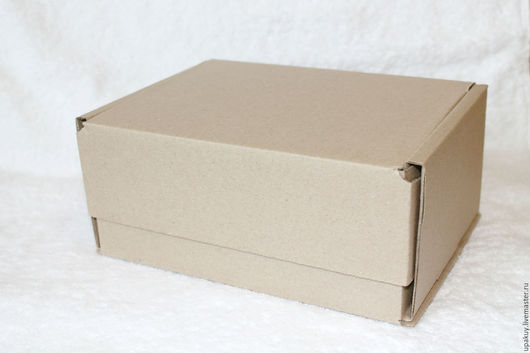 Упаковка ручной работы. Ярмарка Мастеров - ручная работа. Купить Коробка из гофрокартона 22x16x10,5. Handmade. Коричневый, коробка