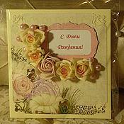 Открытки ручной работы. Ярмарка Мастеров - ручная работа Розовый сад. Handmade.