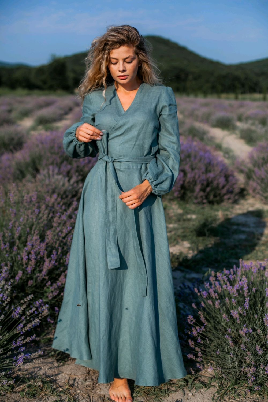 Льняное платье на запАх, Платья, Анапа,  Фото №1