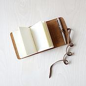 Скетчбуки ручной работы. Ярмарка Мастеров - ручная работа Скетчбук-мини в рыжем кожаном переплёте. Handmade.