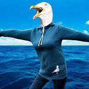"""Одежда ручной работы. Ярмарка Мастеров - ручная работа Кофта с капюшоном """"Морская душа"""". Handmade."""