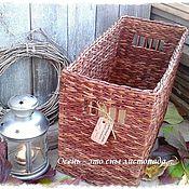 Для дома и интерьера ручной работы. Ярмарка Мастеров - ручная работа Короб плетеный Листопад. Handmade.
