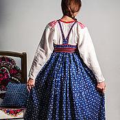 Одежда ручной работы. Ярмарка Мастеров - ручная работа Сарафан кубовый. Handmade.