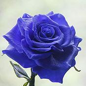 Цветы и флористика ручной работы. Ярмарка Мастеров - ручная работа Синяя роза. Handmade.