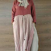 Одежда handmade. Livemaster - original item Boho dress and scarf. Dress casual. Cotton dress.. Handmade.