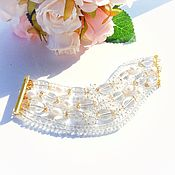 Украшения handmade. Livemaster - original item Bracelet with rock crystal. Handmade.