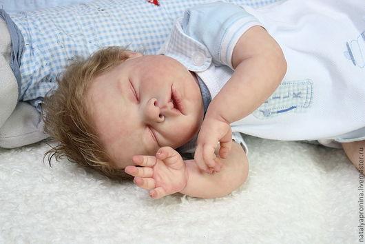 Куклы-младенцы и reborn ручной работы. Ярмарка Мастеров - ручная работа. Купить Кукла реборн. Арсений уснул.. Handmade.