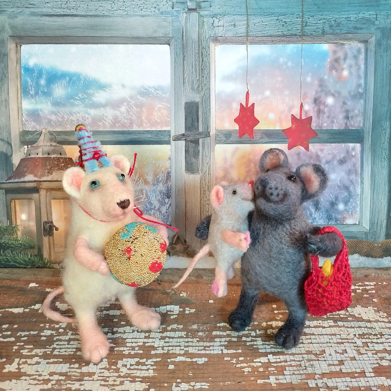 семья крыс, Войлочная игрушка, Томск,  Фото №1