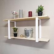 Для дома и интерьера handmade. Livemaster - original item Open two-tier wall shelf in the Scandinavian style. Handmade.