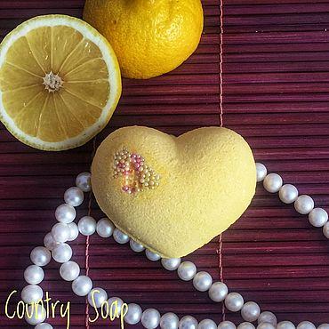 Косметика ручной работы. Ярмарка Мастеров - ручная работа Бомбочка для ванны Лимонная. Handmade.