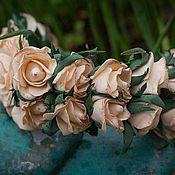 Обручи ручной работы. Ярмарка Мастеров - ручная работа Ободок из роз фоамиран. Handmade.