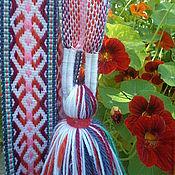 Русский стиль handmade. Livemaster - original item Belt woven women`s. Handmade.